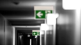 Fluchttür mit Brandschutz und Rauchschutz